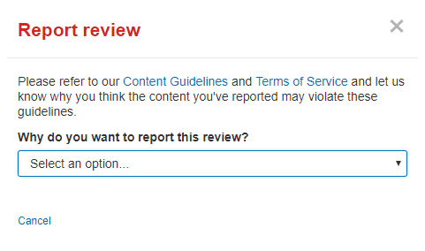 Report a negative Yelp review
