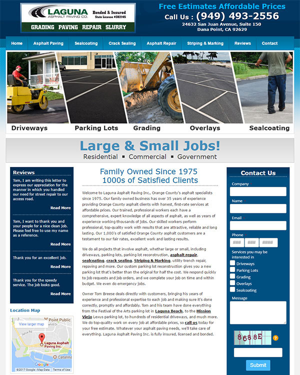 Optimized Asphalt Paving Website