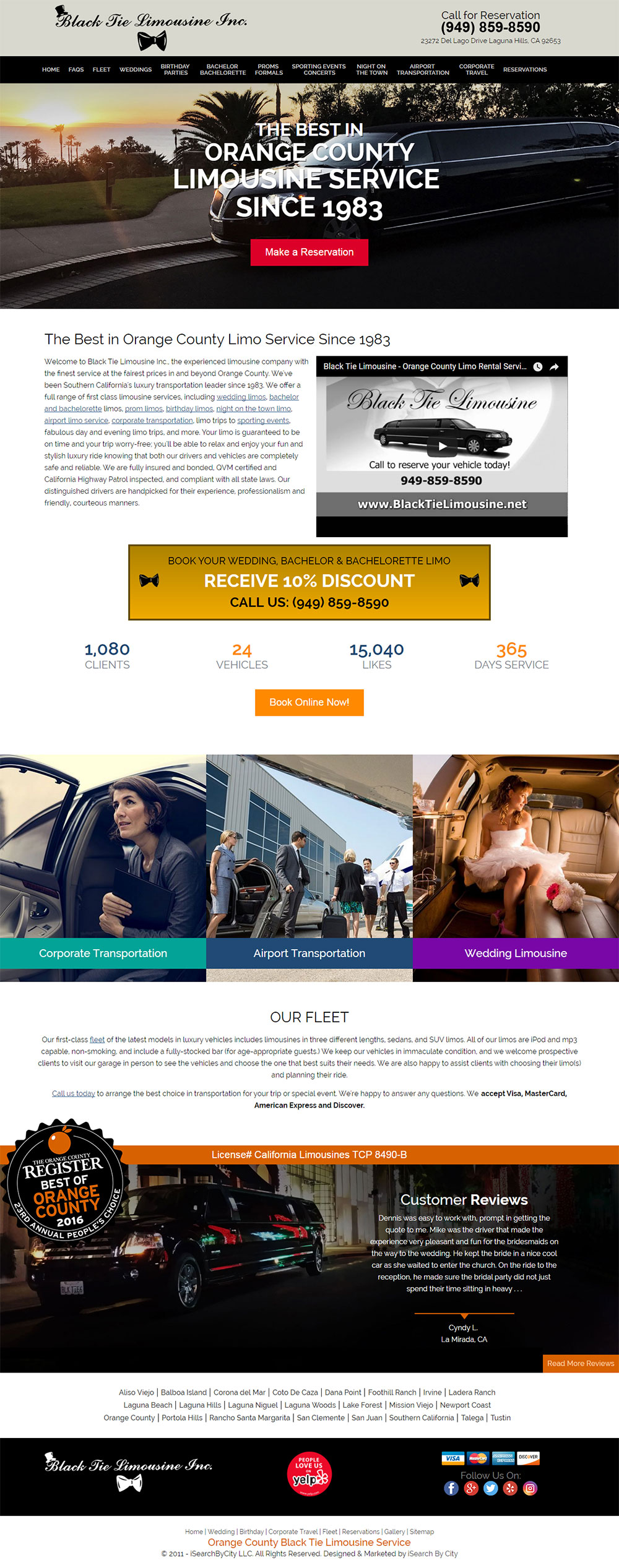 Optimized Website for Black Tie Limousine