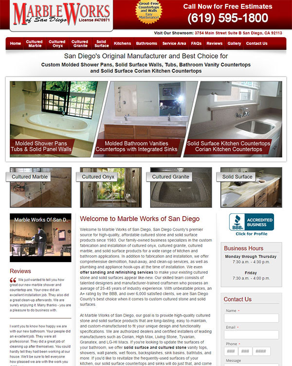 Marble Works Website