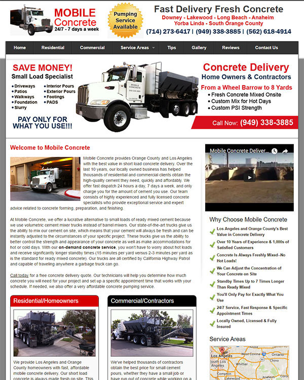 Short Load Concrete Delivery