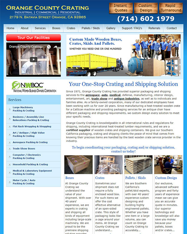 Orange County Crating Website