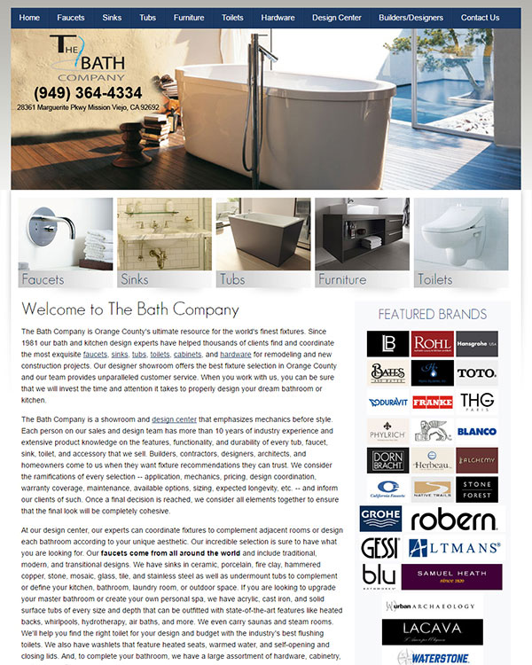 The Bath Company Website