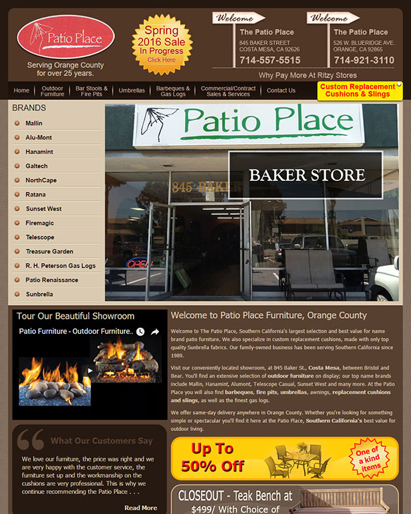 Patio Place Optimized Website