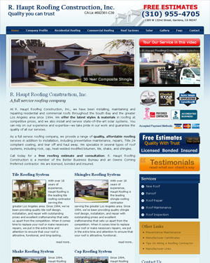 R. Haupt Roofing Construction