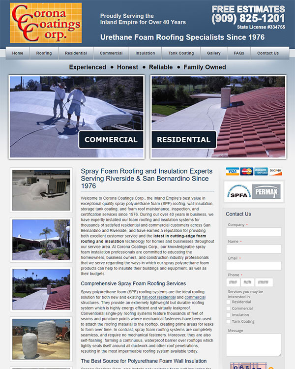 Corona Coating Corp. Website